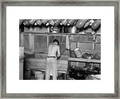 Minnesota Lumber Camp, 1937 Framed Print