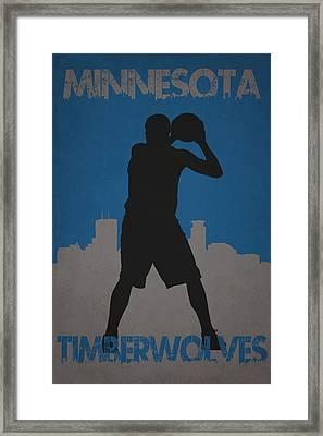 Minnesota Timberwolves Framed Print by Joe Hamilton