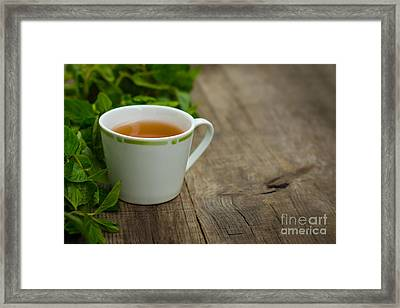 Mint Tea Framed Print by Aged Pixel