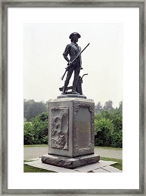 Minutemen Soldier Framed Print by Granger
