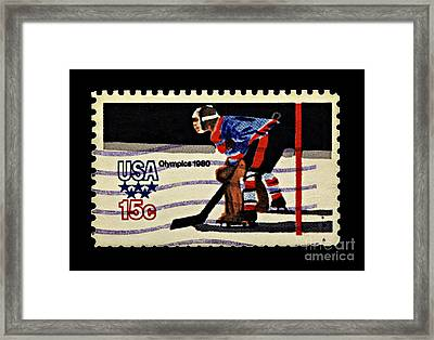 Miracle On Ice 1980 Olympic Mens Hockey Framed Print by Kerry Gergen