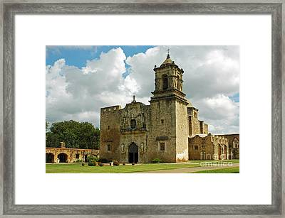 Framed Print featuring the photograph Mission San Jose by Olivia Hardwicke