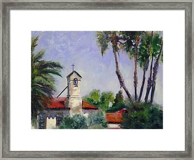 Mission San Juan Capistrano Framed Print by Luz Perez