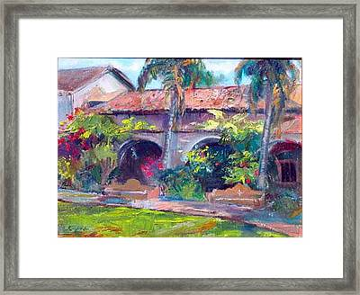 Mission San Juan Capistrano Framed Print by Renuka Pillai