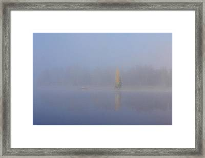 Misty Morning On A Lake Framed Print by Jouko Lehto