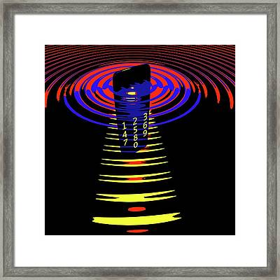Mobile Phone And Transmitter Waves Framed Print