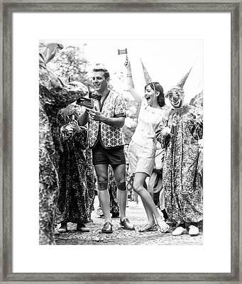 Model At A Carnival Framed Print by Richard Waite