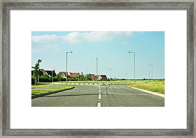 Modern Road Framed Print by Tom Gowanlock