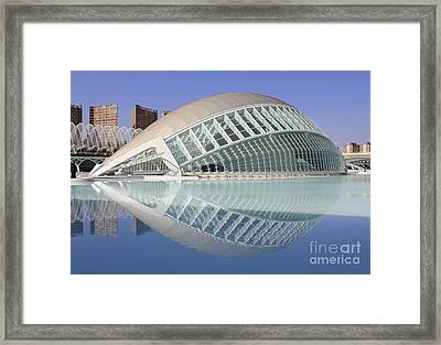 The Hemisferic In Valencia Spain Framed Print