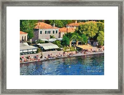 Molyvos Beach Framed Print
