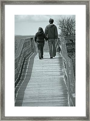 Moments With Dad  Framed Print by Karol Livote