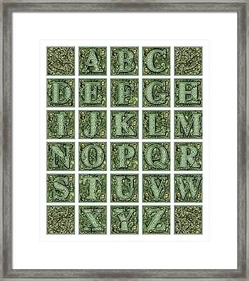 Money Alphabet Framed Print