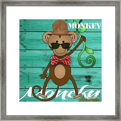 Monkey Business Collection Framed Print by Marvin Blaine