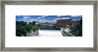 Monroe Street Bridge Across Spokane Framed Print by Panoramic Images