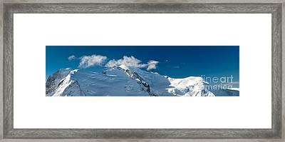 Mont Blanc Massiv Framed Print