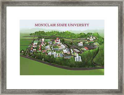 Montclair State University Framed Print by Rhett and Sherry  Erb
