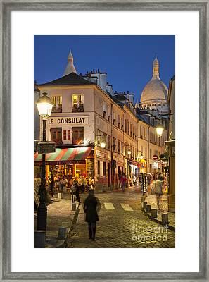 Montmartre Twilight Framed Print