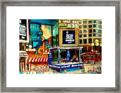 Montreal International Jazz Festival Framed Print