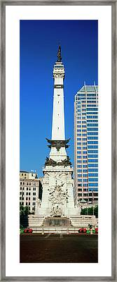Monument In A City, Soldiers Framed Print