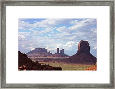 Monument Valley Framed Print by Pamela Schreckengost