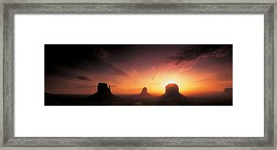 Monument Valley, Utah, Usa Framed Print by Panoramic Images