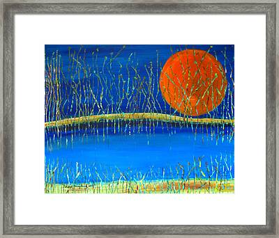 Framed Print featuring the painting Moon Shadow by Patricia Januszkiewicz
