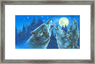 Moon Song Framed Print