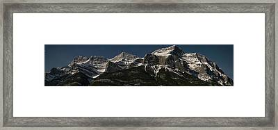 Moonlit Mountain And Stars, Mount Framed Print