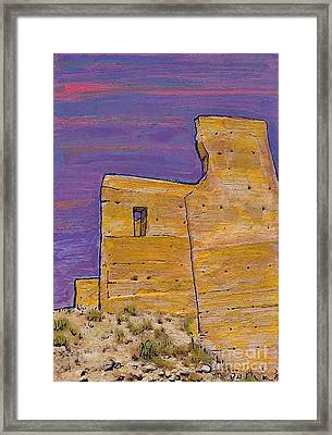Moorish Fort In Jumilla Framed Print by Sarah Loft