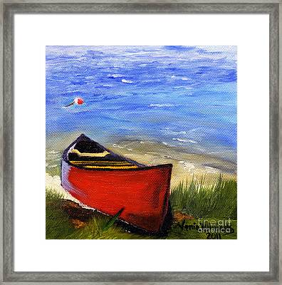 Morning At The Lake  Framed Print by Maria Williams