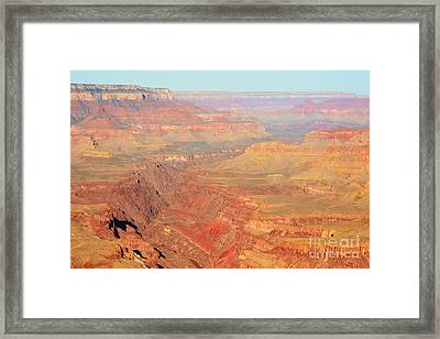 Morning Colors Of The Grand Canyon Inner Gorge Framed Print