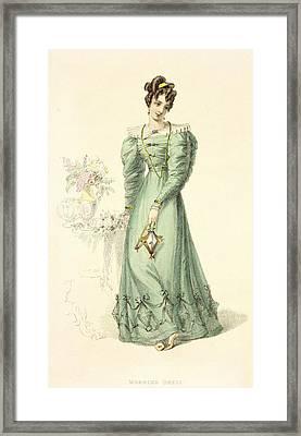 Morning Dress, Fashion Plate Framed Print