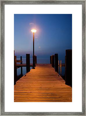 Morning On The Dock Framed Print by Crystal Wightman