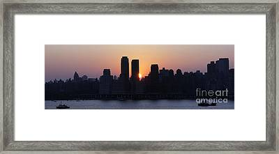 Framed Print featuring the photograph Morning On The Hudson by Lilliana Mendez