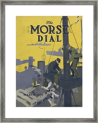 Morse Dry Dock Dial Framed Print by Edward Hopper