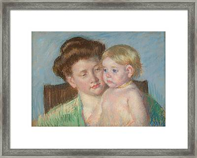 Mother And Child Framed Print by Celestial Images