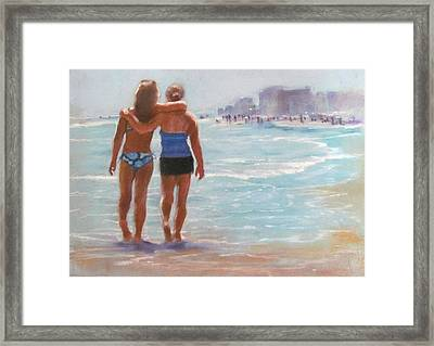 Mother And Daughter Framed Print by Janet McGrath