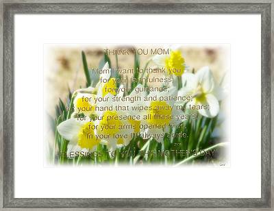 Mothers Day Card Framed Print by Debra     Vatalaro