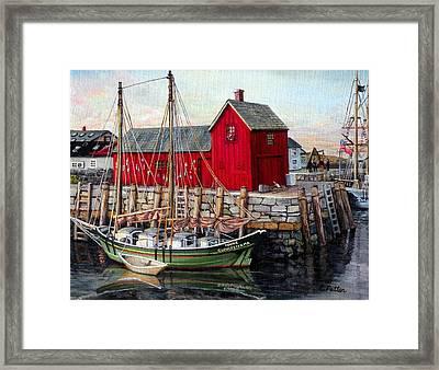 Motif # 1, Rockport, Ma Framed Print