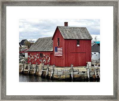 Framed Print featuring the photograph Motif  Rockport Ma by Caroline Stella