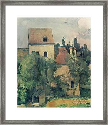 Moulin De La Couleuvre At Pontoise Framed Print by Paul Cezanne