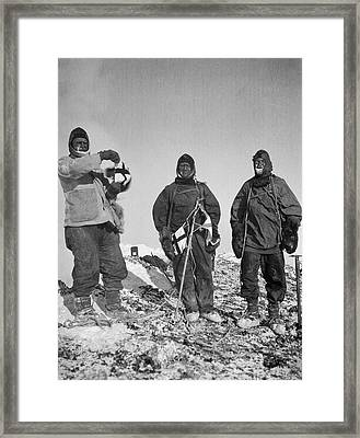 Mount Erebus Ascent Expedition Framed Print by Scott Polar Research Institute