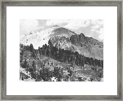 Mount Lassen Volcano Framed Print by Frank Wilson