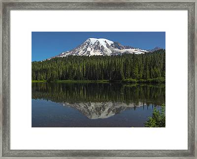 Mount Rainier From Reflection Lake Framed Print by Bob Noble Photography
