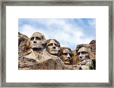 Mount Rushmore Monument Framed Print by Olivier Le Queinec