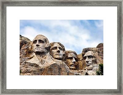 Mount Rushmore Monument Framed Print