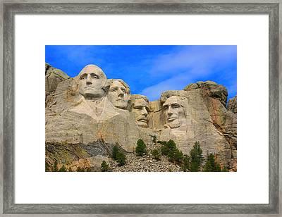 Mount Rushmore South Dakota Framed Print