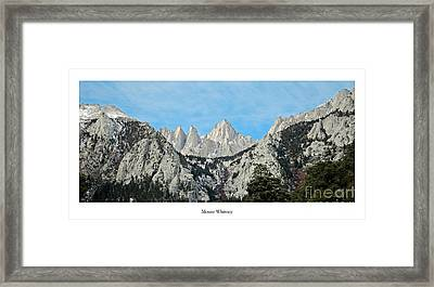 Mount Whitney Framed Print