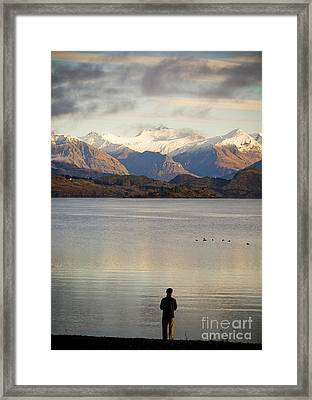Mountain Dawn Framed Print by Tim Hester