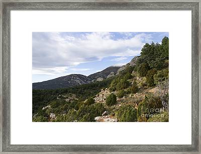 Mountain Landscape In Huesca Framed Print